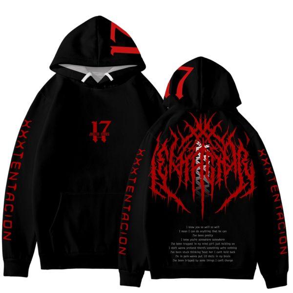 xxxtentacion 17 rapper hoodie