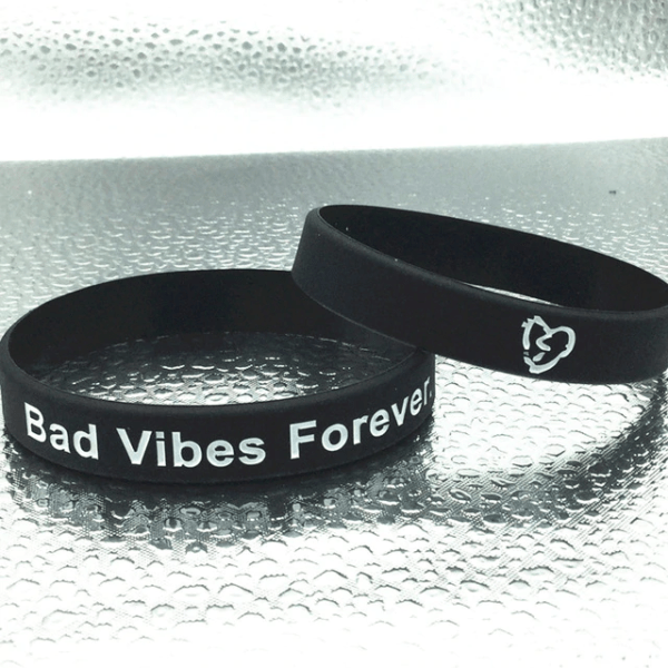 Xxxtentacion fashion Bad vibes forever black Wristband