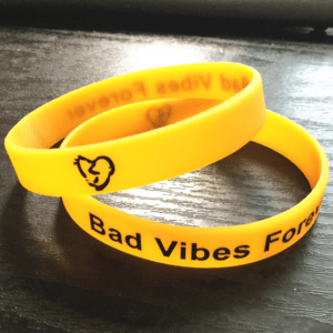 Xxxtentacion fashion Bad vibes forever yellow Wristband