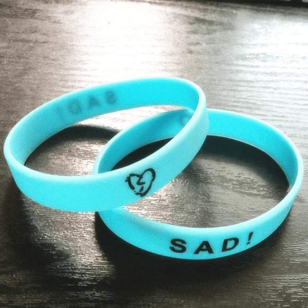 xxxtentacion sad! blue wristband