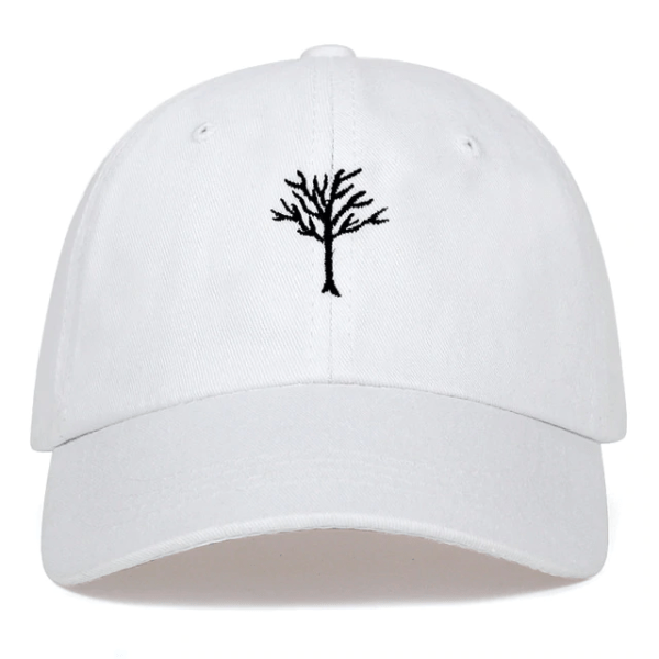 xxxtentacion dreadlocks cool white dad hat
