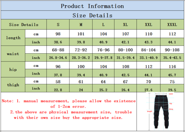 cool xxxtentacion ? jogger sweatpants size chart
