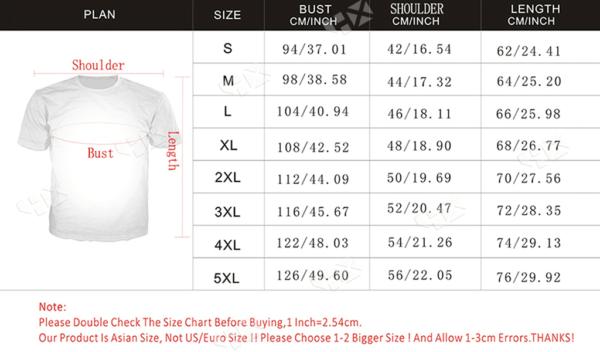 Jahseh Onfroy xxx custom shirt size chart