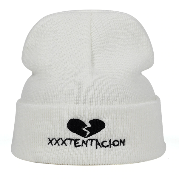 xxxtentacion broken heart revenge white beanie