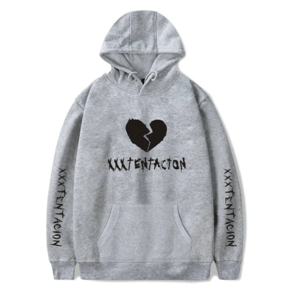 xxxtentacion broken heart logo fashion hoodie