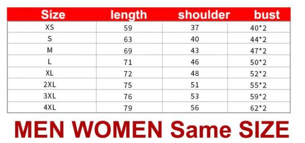 triple x store ? shirt size chart