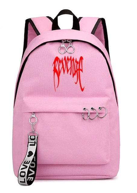Xxxtentacion Apparel Revenge Logo Pink Backpack