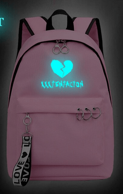 Illuminated xxxtentacion apparel broken heart backpack