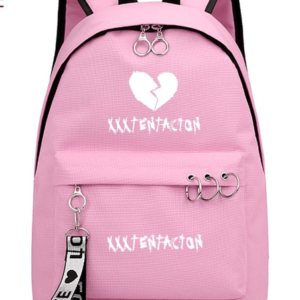 Xxxtentacion Fashion Broken heart Revenge Pink Backpack