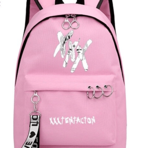 Xxxtentacion Logo Pink Backpack