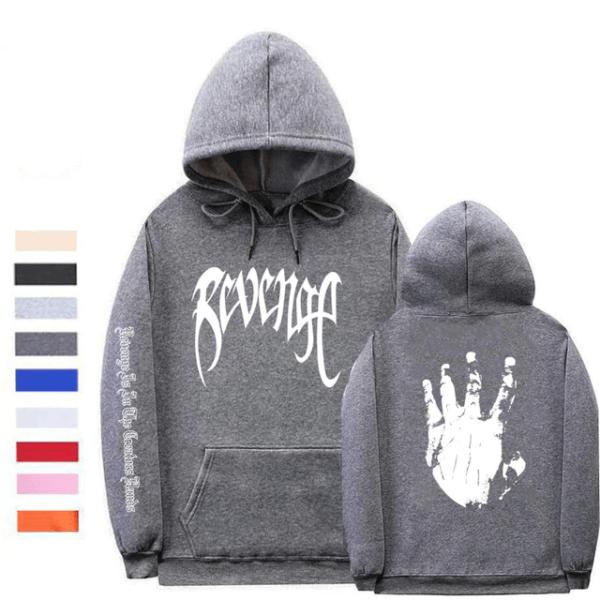 xxxtentacion revenge logo fashion hoodie