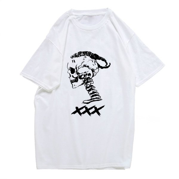 xxxtentacion apparel xxx skull logo t shirt