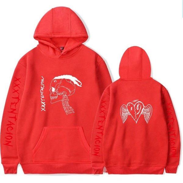 xxxtentaction merch x skull heart hoodie