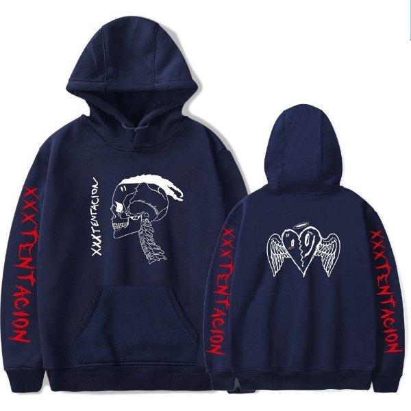 xxxtentaction merch x skull hoodie